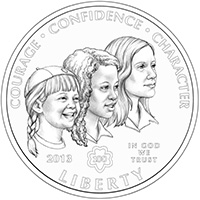 2013 Girl Scouts of the USA Centennial Silver Dollar Obverse2013 Girl Scouts of the USA Centennial Silver Dollar Obverse2013 Girl Scouts of the USA Centennial Silver Dollar Obverse