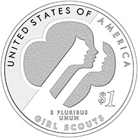 2013 Girl Scouts of the USA Centennial Silver Dollar Reverse