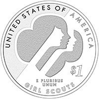2013 Girl Scouts of the USA Centennial Silver Dollar Reverse