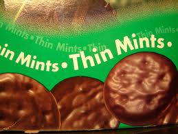 Thin mint girl scout cookies